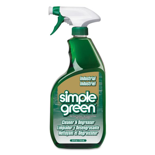 Simple Green Industrial Cleaner & Degreaser, Concentrated, 24 oz Bottle, 12/Carton