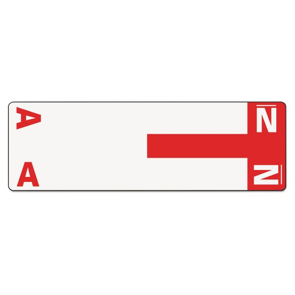 Smead AlphaZ NCC Color-Coded Name Label - A & N