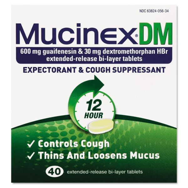 Mucinex DM Expectorant & Cough Suppressant Tablets