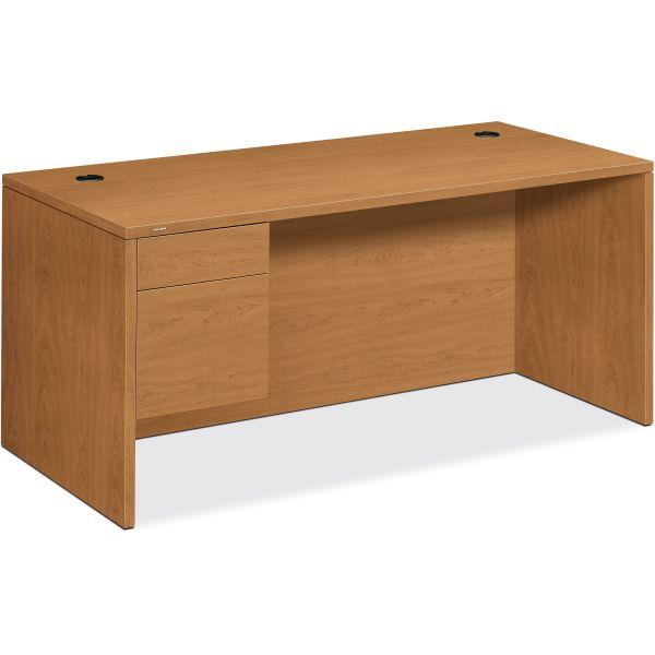 """HON 10500 """"L"""" Workstation Left Pedestal Computer Desk"""