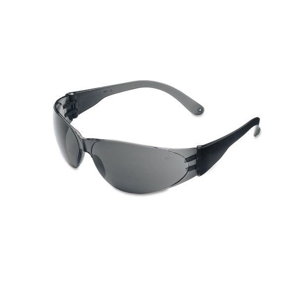Crews Checklite Scratch-Resistant Safety Glasses, Gray Lens