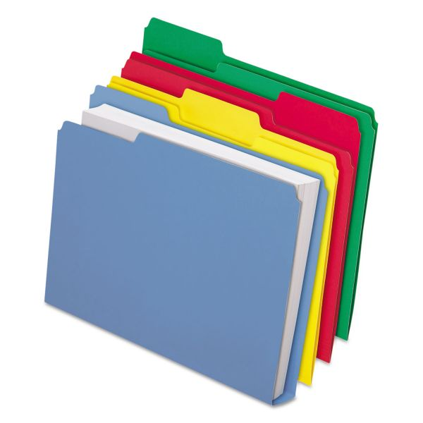 Pendaflex CutLess/WaterShed/Double Stuff Colored File Folders