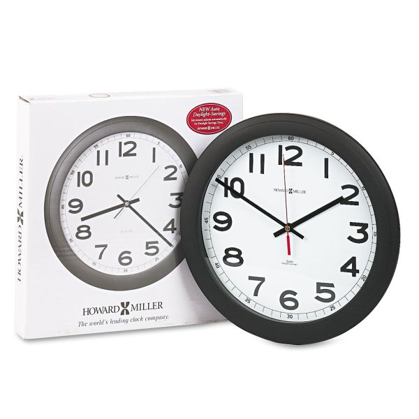 Howard Miller Norcross Auto Daylight-Savings Wall Clock