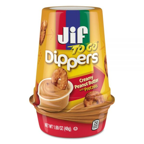 Jif To Go Creamy Peanut Butter w/Pretzels Dippers
