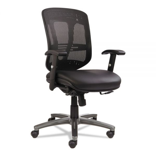 Alera Eon Series Multifunction Mid-Back Leather/Mesh Office Chair