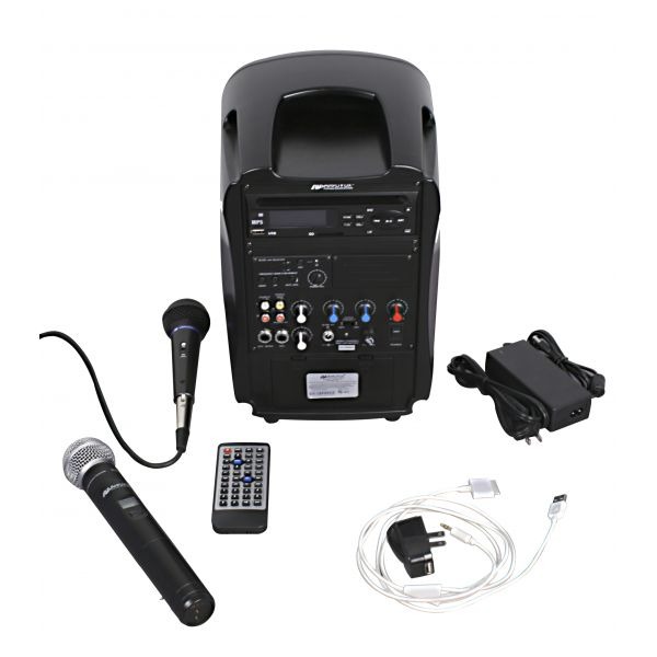 AmpliVox Rechargeable Wireless PA System, 36W Amp