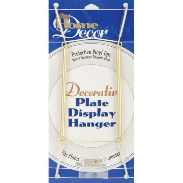 "Decorative Plate Display Hanger Expandable 10"" To 14"""