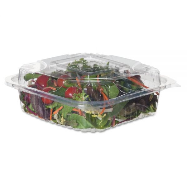 """Eco-Products Renewable & Compostable Clear Clamshells - 8"""" x 8"""" x 3"""", 80/PK, 2 PK/CT"""