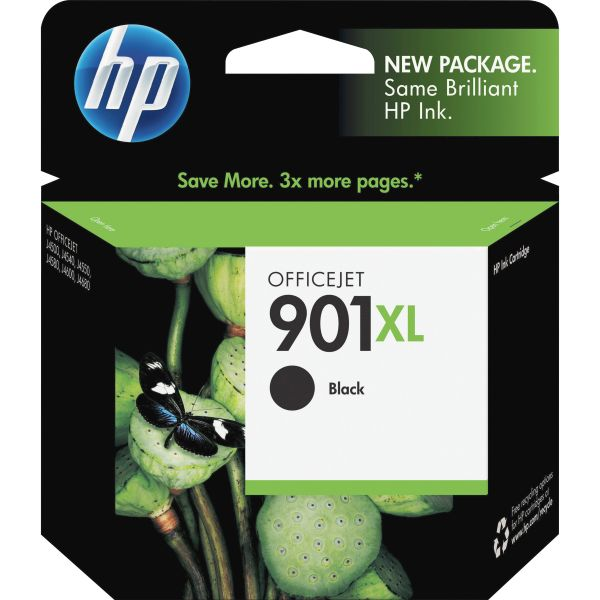 HP 901XL High Yield Black Ink Cartridge (CC654AN)