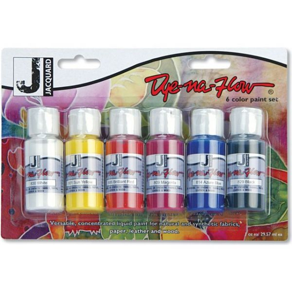 Jacquard Dye-Na-Flow Paint Set 1oz 6/Pkg