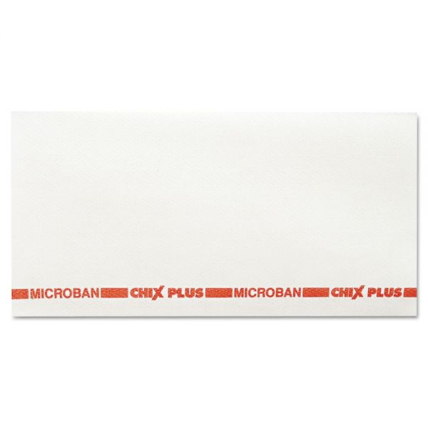 Chix Food Service Towels, 13 1/2 x 24, White/Red, 72/Carton