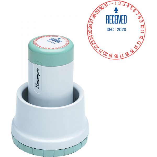 Xstamper XpeDater RECEIVED Rotary Dater