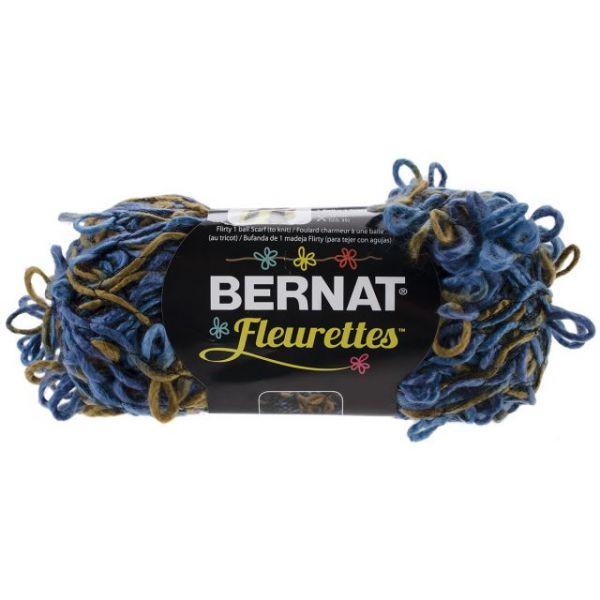 Bernat Fleurettes Yarn - Sapphire Blue