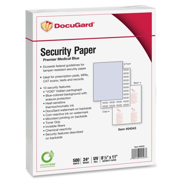 Paris Business Products DocuGard Medical Security Paper