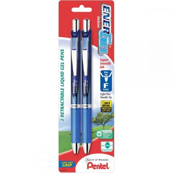 EnerGel RTX Retractable Liquid Gel Pen .5mm 2/Pkg