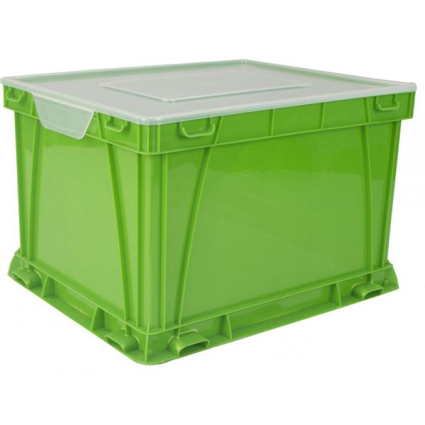 Storex Storage and Filing Cube, School Green (Case of 3)