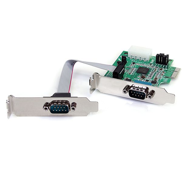 StarTech.com 2 Port Low Profile Native RS232 PCI Express Serial Card with 16950 UART