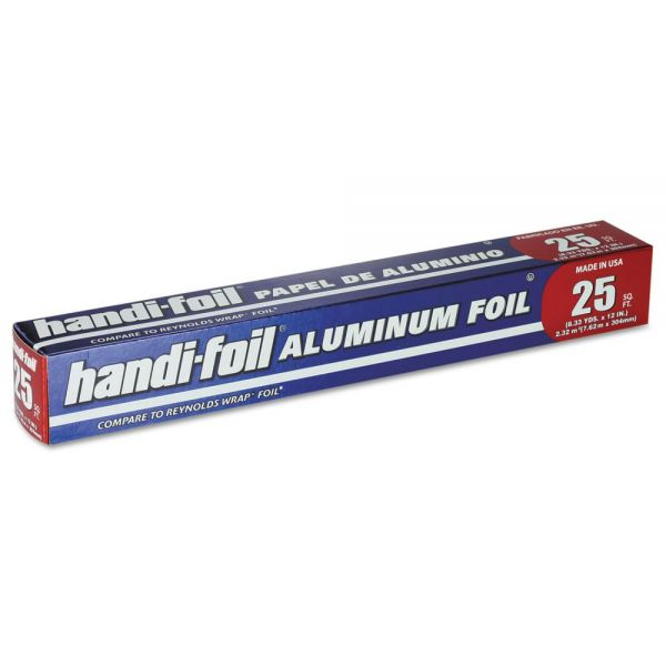 "Handi-Foil of America Aluminum Foil Roll, 12"" x 25 ft, 24/Carton"