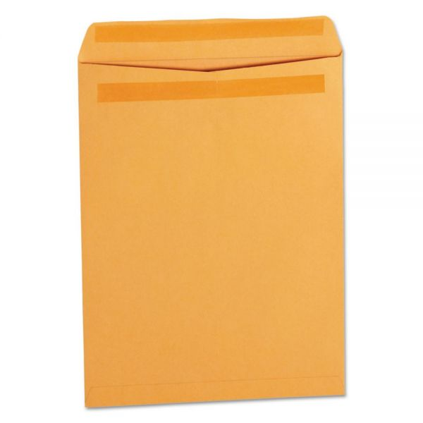 Universal Self Stick File Style Envelope, 12 1/2 x 9 1/2, Brown, 250/Box