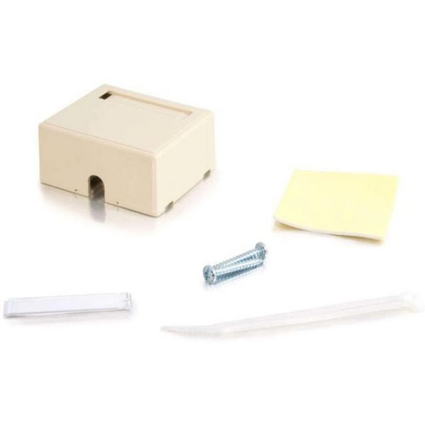 C2G 2-Port Keystone Jack Surface Mount Box - Ivory