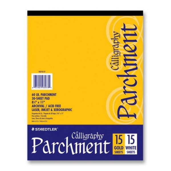 Staedtler White & Gold Parchment Paper Pad