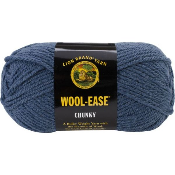 Lion Brand Wool-Ease Chunky Yarn - Indigo