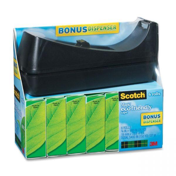 "Scotch 3/4"" Magic Greener Tape Refills & Dispenser"