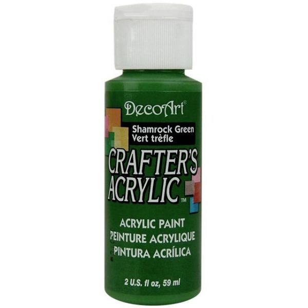 Deco Art Crafter's Acrylic Shamrock Green Acrylic Paint
