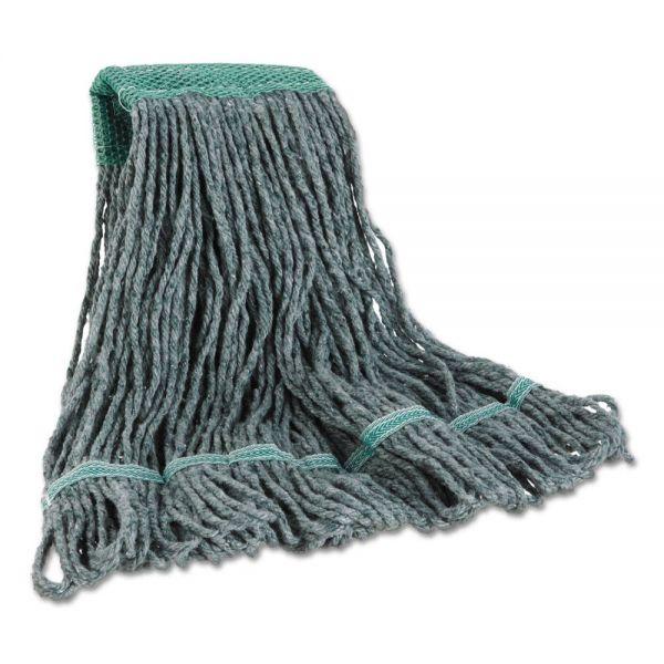Boardwalk Mop Head, Premium Standard Head, Cotton/Rayon Fiber, Medium, Green