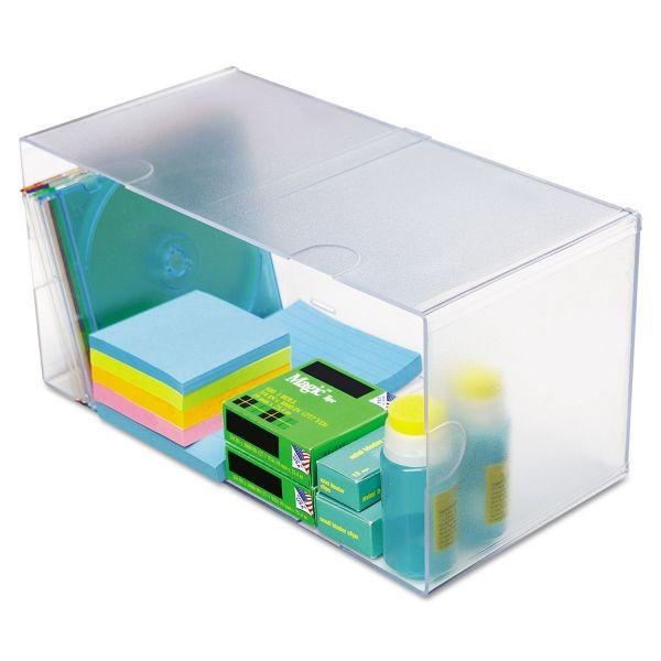 deflecto Desk Cube, Double Cube, 12 x 6 x 6