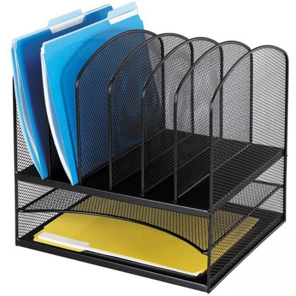 Safco Combination Horizontal/Vertical Filing Desktop Organizer