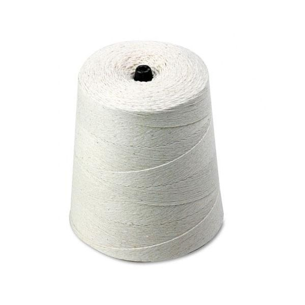 Quality Park White Cotton 6-Ply (Light) String On Cone, 8,000 Feet