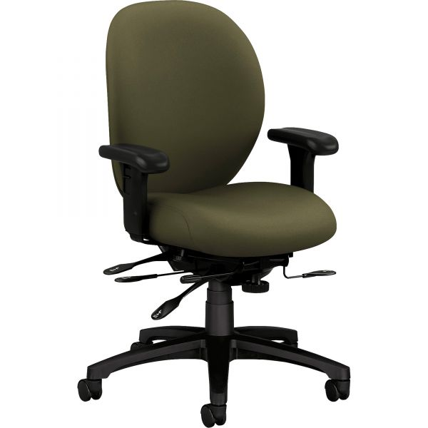 HON Unanimous Series H7628  Mid-Back Office Chair with Seat Glide