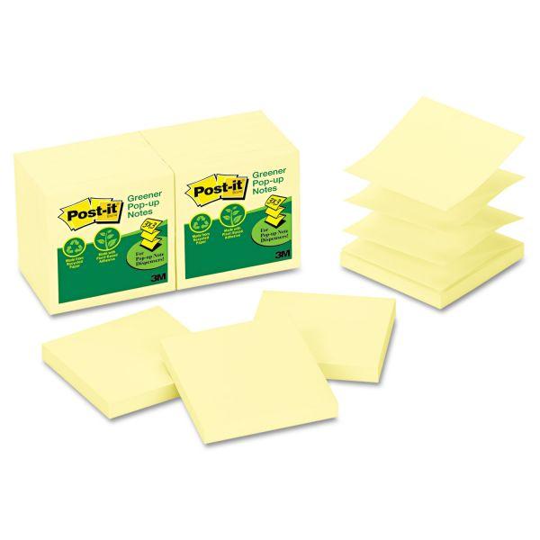 "Post-it 3"" x 3"" Greener Pop-Up Notes"