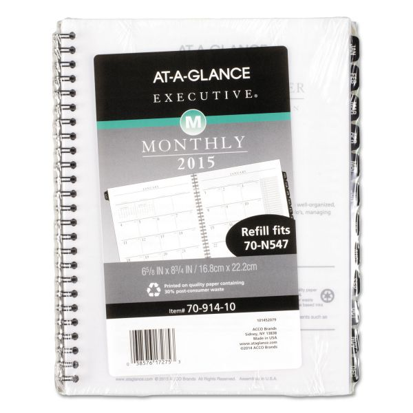At-A-Glance Executive Desk Planner Refill