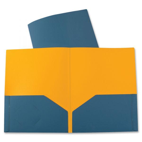 C-Line Two-Tone Two-Pocket Poly Portfolio
