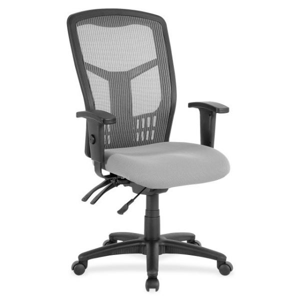 Lorell Ergomesh Seating Exec Mesh High-Back Office Chair