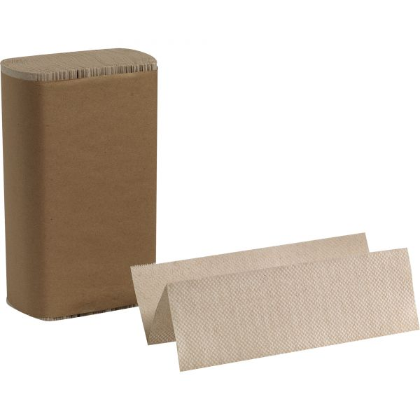 Georgia Pacific Professional Multifold Paper Towel, 9 1/5 x 9 2/5, 1-Ply, Brown, 250 Sheets/Pack, 16 Packs/Carton