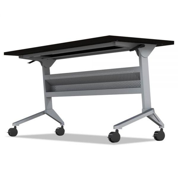 Mayline Flip-n-Go Table Base, 58 3/4w x 21 1/4d x 27 7/8h, Silver