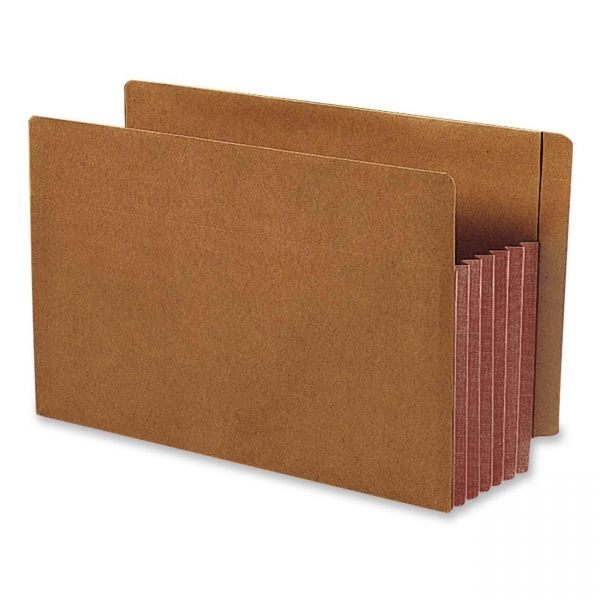 Smead Extra Wide End Tab File Pockets with Reinforced Tab and Colored Gusset
