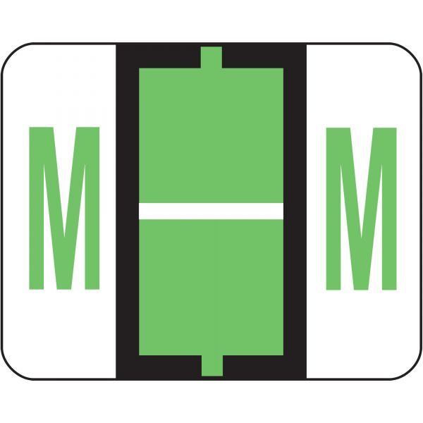 Smead BCCR Bar-Style Color-Coded Alphabetic Label - M