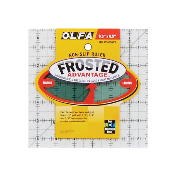 "OLFA Frosted Advantage Non-Slip Ruler ""The Compact"""