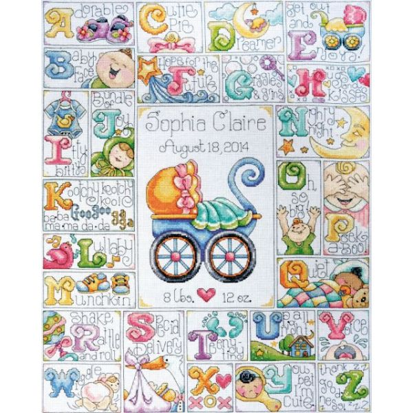 Baby ABC Counted Cross Stitch Kit