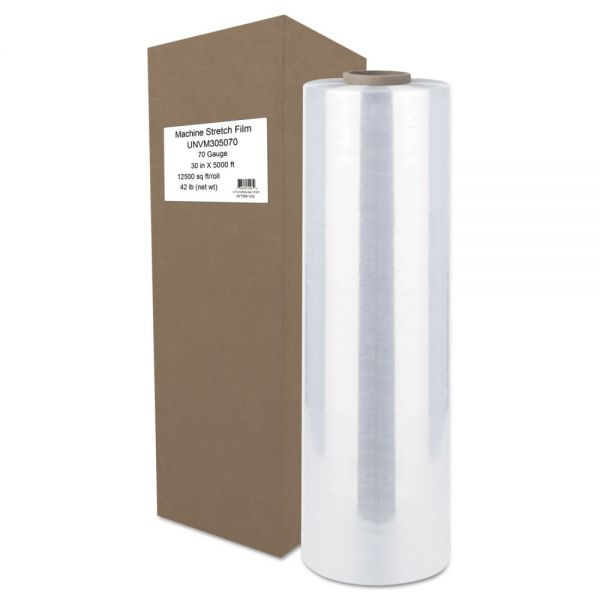 "Universal Machine Stretch Film, 30"" x 5000 ft, 17.8mic, Clear"