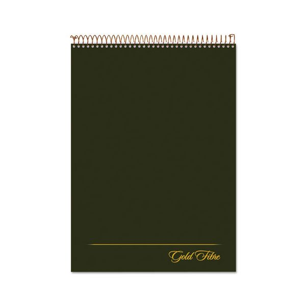 Ampad Gold Fibre Wirebound Writing Pad w/Cover, 8 1/2 x 11 3/4, White, Green Cover