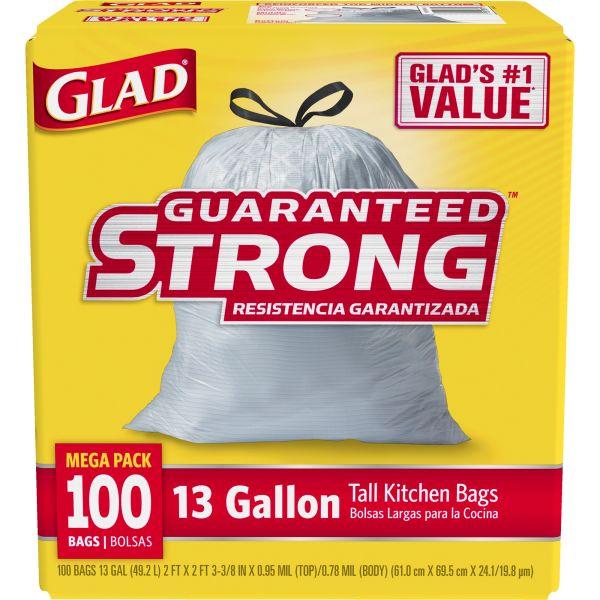 Glad Drawstring 13 Gallon Tall Kitchen Trash Bags