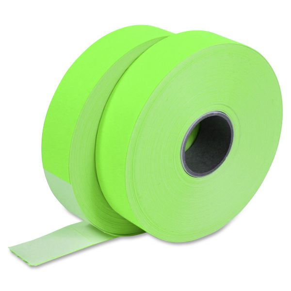 Monarch Pricemarker 1156 One-Line Labels, 3/4 x 1-1/4, Fluorescent Green, 2 Rolls/Pack