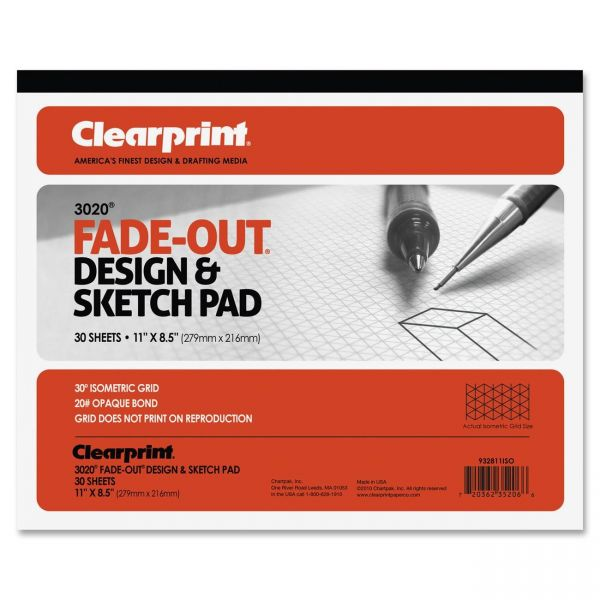 Clearprint ClearPrint Isometric Grid Paper Pad - Letter