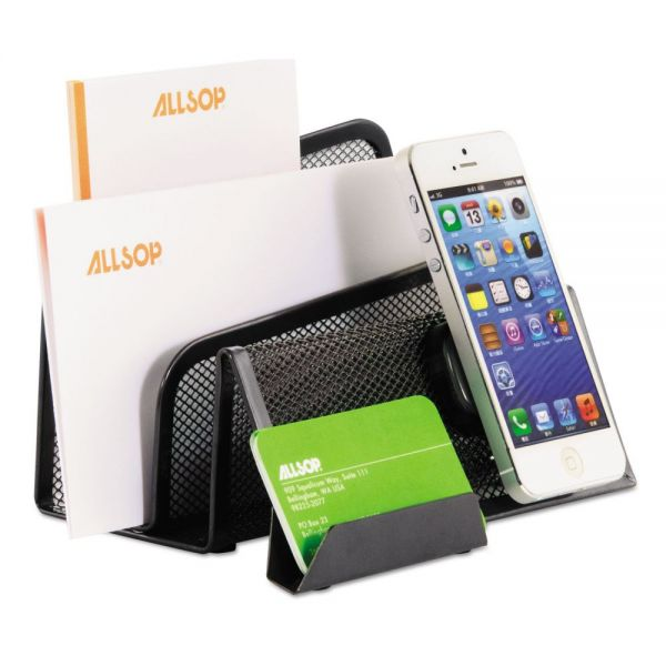 Allsop DeskTek File Stands, Three-Section Letter, 4 4/5 x 6 9/10 x 4 7/10, Gray