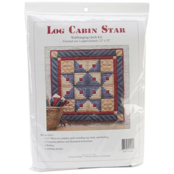Log Cabin Star Wall Quilt Kit